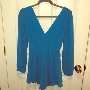 Royal Blue Chiffon Romper